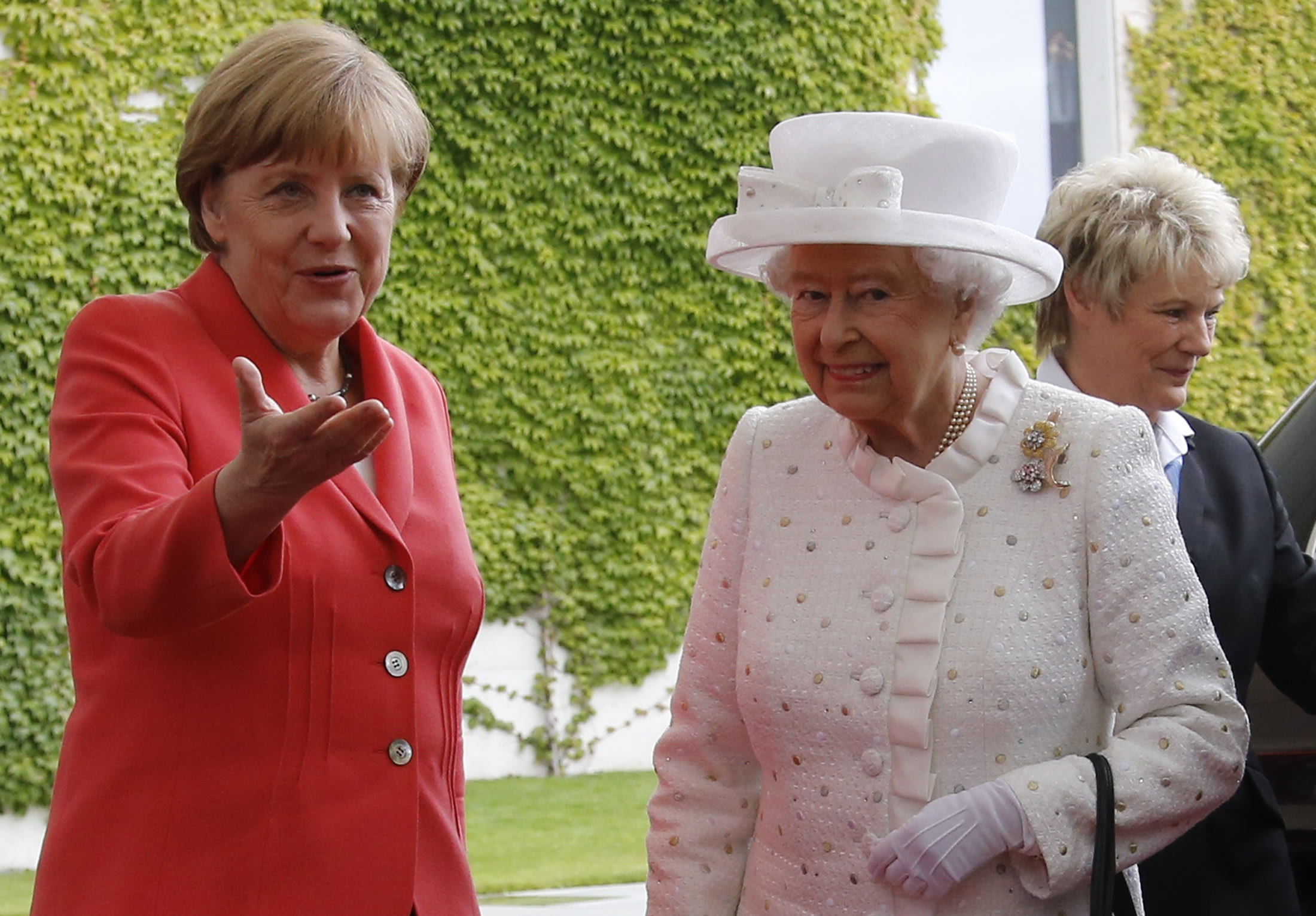 The world's most powerful woman met the world's most famous woman