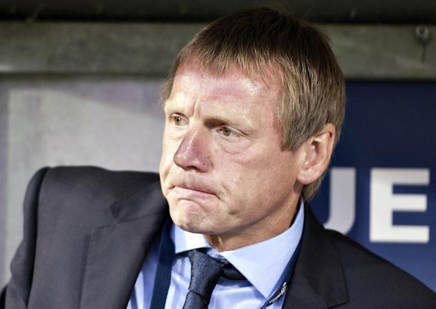 (FILES) In A File Picture Taken On June 19, 2011 England Coach Stuart Pearce Grimaces AFP/Getty Images