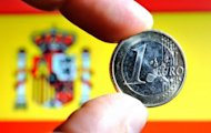 European Central Bank loans to Spain's battered banks shot up 17.2 percent to a record 337.2 billion euros ($411 billion) in June, the Bank of Spain has said