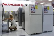 <p>A woman shops for refrigerators at a store in New York July 28, 2010. REUTERS/Shannon Stapleton</p>