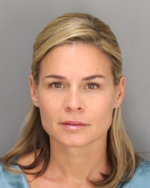 Cat Cora is seen in a police …