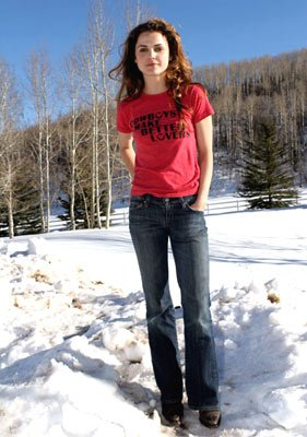 Keri Russell The Upside of Anger Outdoor Portraits - 1/21/2005 Sundance Film Festival