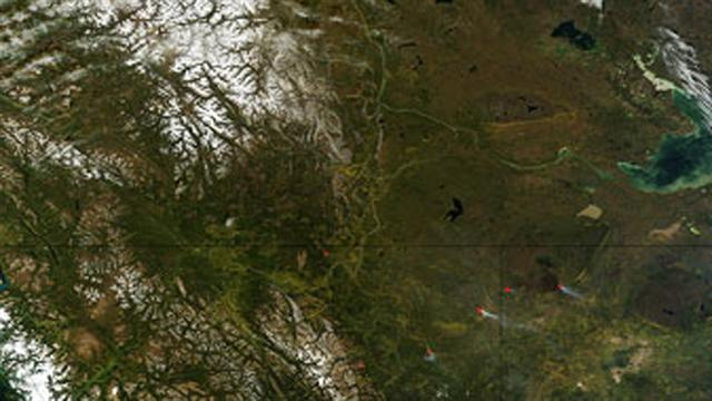 NASA image shows change of seasons in Canada