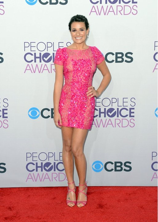 "BEST: Lea Michele.  Pretty in pink Elie Saab with matching heels, the ""Glee"" star shows off long legs, freshly tanned from a vacation in Hawaii with boyfriend and costar Cory Monteith."