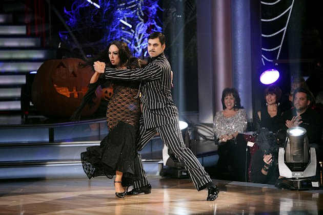 "Cheryl Burke and Rob Kardashian perform on ""Dancing With the Stars."""