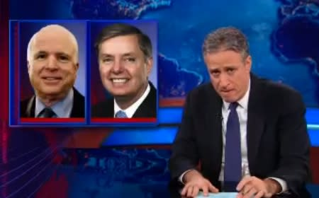 Jon Stewart Slams John McCain, Lindsey Graham for Hypocrisy on Susan Rice