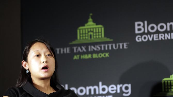 Ms. Kathy Chan, Director of Policy and Advocacy with the Illinois Maternal and Child Coalition, speaks during an event on the tax implications of health care reform on in Springfield, Ill., Wednesday, April 10, 2013. The event is part of a multi-city engagement tour hosted by The Tax Institute at H&R Block and Bloomberg Government examining the effects of the Affordable Care Act on consumers, small businesses and the uninsured.  (AJ Mast / AP Images for The Tax Institute at H&R Block)