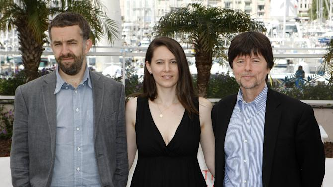 "FILE - In this May 24, 2012 file photo, from left, co-directors David McMahon, Sarah Burns and Ken Burns pose during a photo call for ""The Central Park Five"" at the 65th international film festival, in Cannes, southern France. The two-hour documentary makes the case that the five teens who were sent to jail, and whose convictions were eventually overturned, were wrongly convicted of the rape and beating of the woman who came to be known as the Central Park jogger. (AP Photo/Lionel Cironneau, File)"