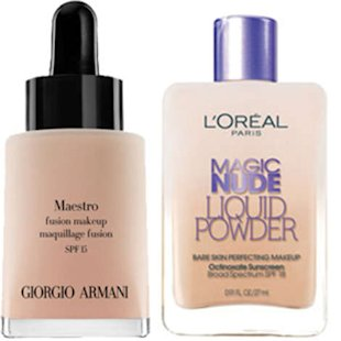 These two foundations have different price tags, but similar ingredients.