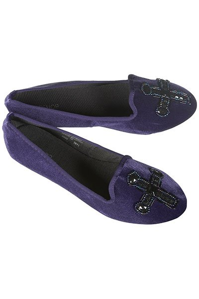 Monastery embellished cross slippers, $56, topshop.com