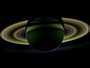 Saturn's Dazzling Rings Make It 'Rain'