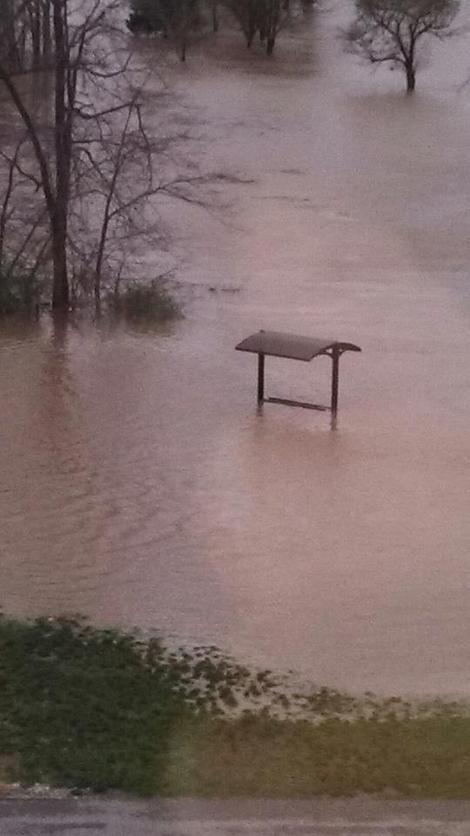 Indiana Flooding Swallows Parking Lots, Drowns Basements