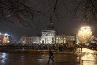 The train station where a bomber detonated explosives is pictured in Volgograd December 29, 2013.REUTERS/Sergei Karpov