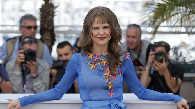 """Cast member Nailea Norvind poses during a photocall for the film """"Chronic"""" in competition at the 68th Cannes Film Festival in Cannes"""