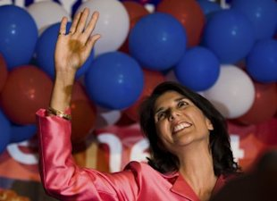 South Carolina Republican Nikki Haley is the first Indian-American woman Governor in the U.S. (Photo by Chris Keane/Getty Images)