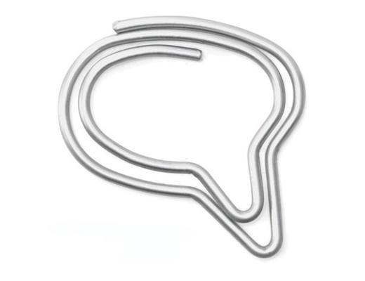 Speech Bubble Paper Clips