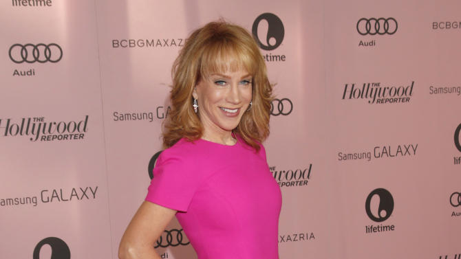 Kathy Griffin arrives at The Hollywood Reporter's Women in Entertainment breakfast at The Beverly Hills Hotel on Wednesday, Dec. 4, 2012, in Beverly Hills, Calif. (Photo by Todd Williamson/Invision/AP)