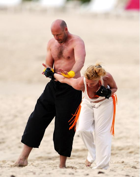 USA and AUS ONLY-EXCLUSIVE Nicollette Sheridan practices mixed martial arts! - Part 2