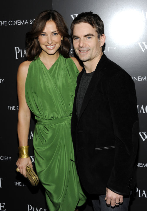 Professional NASCAR driver Jeff Gordon and wife Ingrid Vandebosch attend a special screening of &quot;W.E.&quot; at the Museum of Modern Art on Sunday, Dec. 4, 2011 in New York. (AP Photo/Evan Agostini)