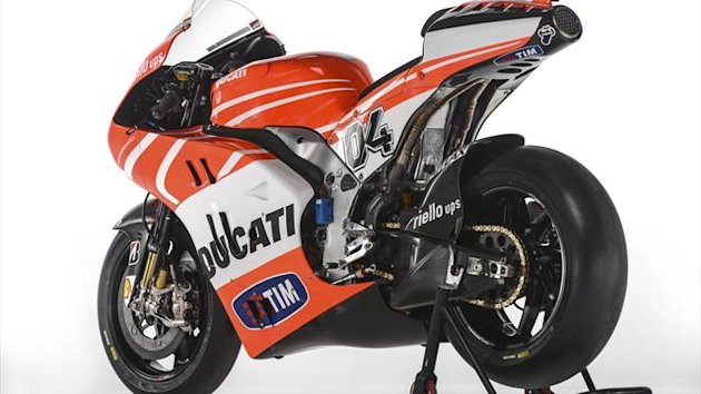 The Ducati Desmosedici GP13 MotoGP model that will compete in the MotoGP 2013 season (Reuters)