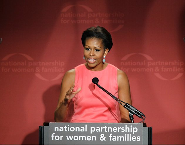 Michelle Obama speaks at the 40th anniversary of the National Partnership for Women & Families, June 9, 2011, in Washington.
