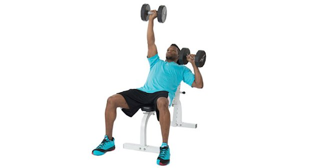 Alternating Dumbbell Incline Press