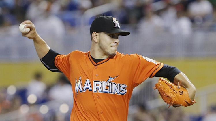 Marlins ace Fernandez OK a day after being hit