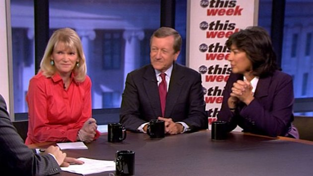 Christiane Amanpour, Martha Raddatz, and Brian Ross.