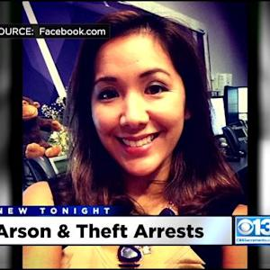 Fox 40 Anchor, Fiance Arrested In Separate Theft, Arson Incidents