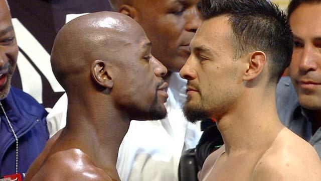 WEIGH IN LIVE: MAYWEATHER vs GUERRERO