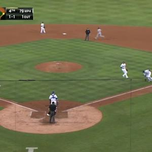 Fuld's RBI bunt single
