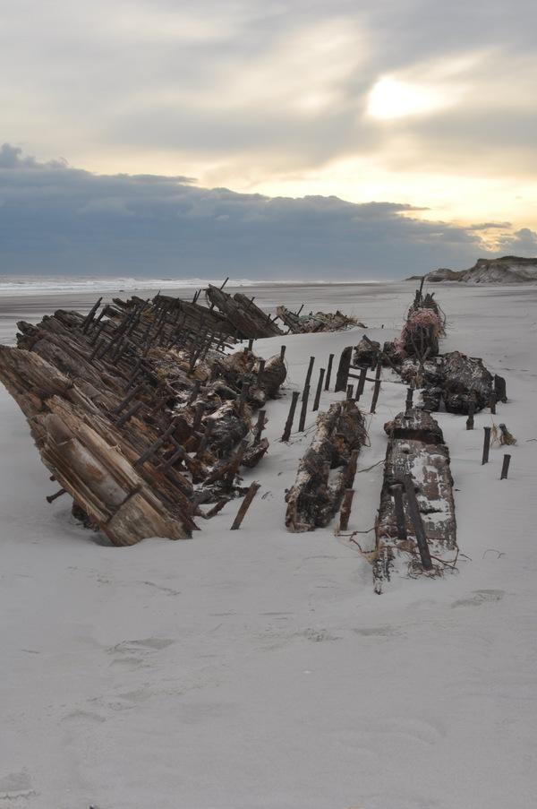 Hurricane Sandy Exposes Fire Island Shipwreck