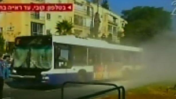 Bomb Explodes on a Bus in Tel Aviv