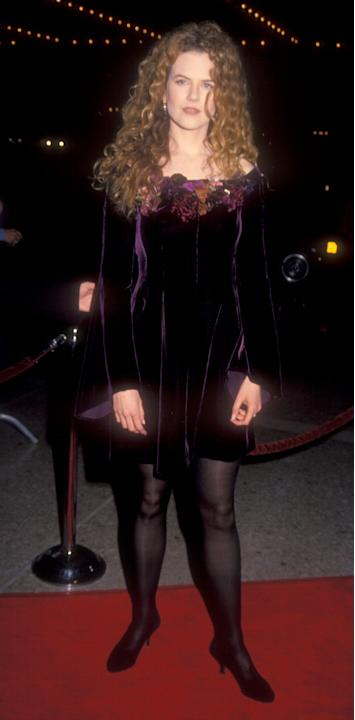 Nicole Kidman in a velvet mini dress