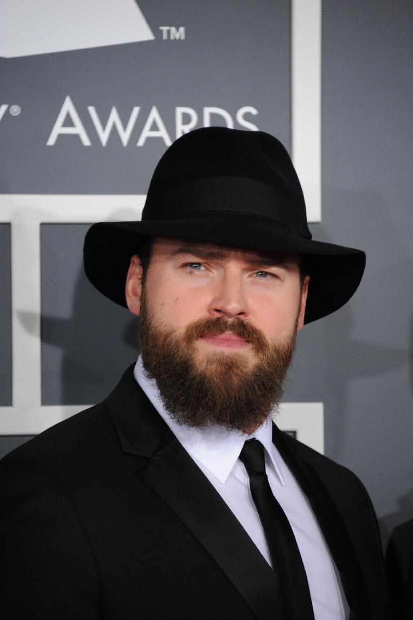 Zac Brown, of the Zac Brown Band, arrives at the 55th annual Grammy Awards on Sunday, Feb. 10, 2013, in Los Angeles.  (Photo by Jordan Strauss/Invision/AP)