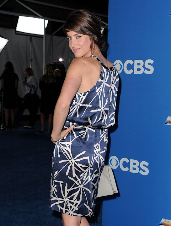 Cobie Smulders of &quot;How I Met Your Mother&quot; arrives at the CBS Fall Season Premiere party at The Colony on September 16, 2010, in Los Angeles. 