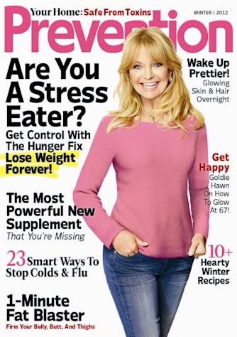 Goldie Hawn on the cover of Prevention magazine -- Prevention Magazine