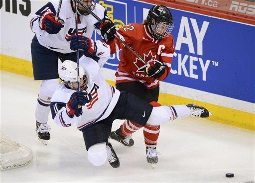 US women edge Canada for world title