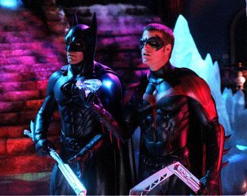 George Clooney and Chris O'Donnell in Warner Brothers' Batman & Robin