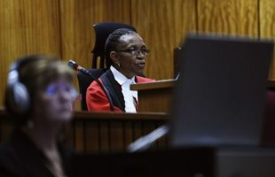 Judge Masipa delivers her judgment in the trial of Oscar Pistorius. (REUTERS)