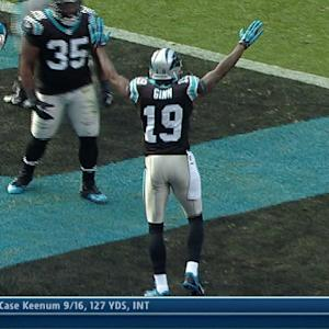 Carolina Panthers wide receiver Ted Ginn 36-yard touchdown reception