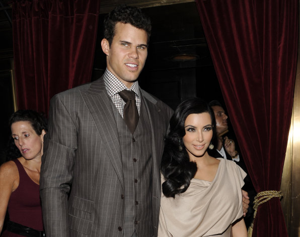 FILE - This Aug. 31, 2011 file photo shows Kim Kardashian and Kris Humphries attending a party thrown in their honor at Capitale in New York. The couple&#39;s divorce is unlikely to be concluded before the end of the year, with Humphries&#39; attorneys seeking detailed records from companies that handle the reality starlet&#39;s shows and the depositions of her mother-manager Kris Jenner and current boyfriend Kanye West. Kardashian, 31, and Humphries, 26, were wed Aug. 20 in a star-studded, black-tie ceremony at an exclusive estate in California. (AP Photo/Evan Agostini, file)