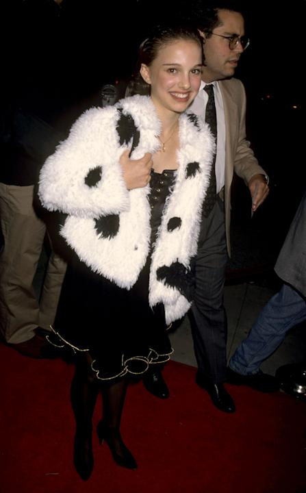 Natalie Portman in a furry jacket