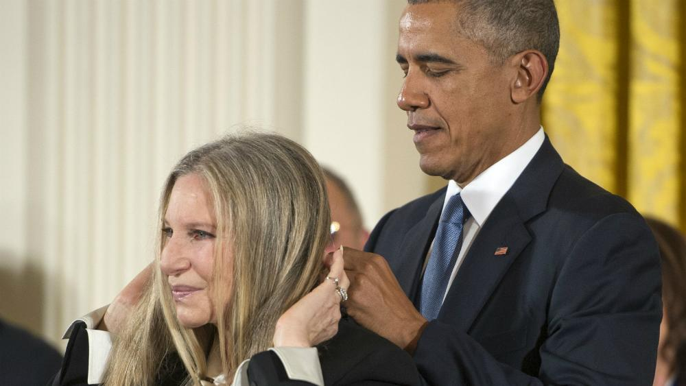 Watch Barbra Streisand, Steven Spielberg Receive Medal of Freedom from President Obama