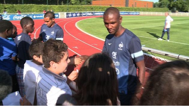Abidal thrilled to back in blue for Belgium friendly