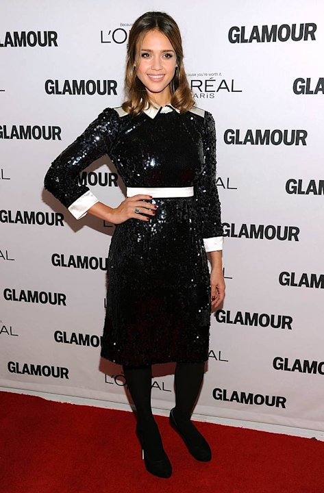 J Essica Alba Glamour Women Of The Year Awards