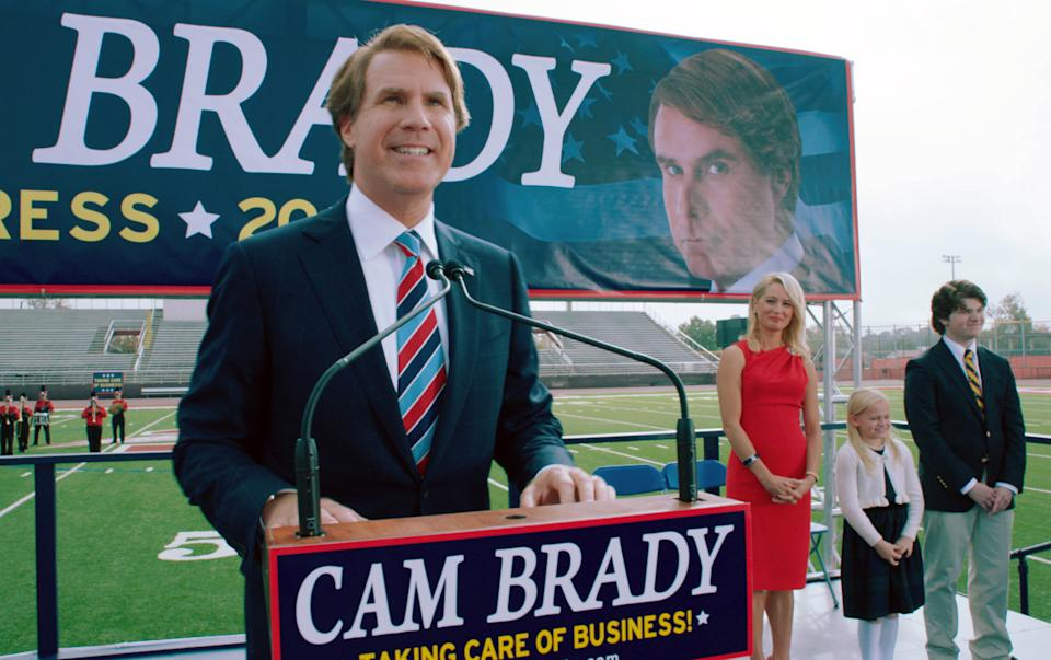 "This film image released by Warner Bros. shows Will Ferrell as Cam Brady in a scene from ""The Campaign."" (AP Photo/Warner Bros., Patti Perret)"