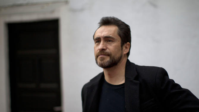 "In this photo taken on Feb. 16, 2012, Mexican actor Demian Bichir poses for a portrait in Mexico City, Mexico.  Bichir learned an important lesson when he left his native Mexico to launch a U.S. acting career and ended up working in a Mexican restaurant in New York: How to live the invisible life of an illegal immigrant with dignity. It's a subtle quality he brings to his Oscar-nominated role of Los Angeles gardener Carlos Galindo in the movie ""A Better Life.""  (AP Photo/Dario Lopez-Mills)"