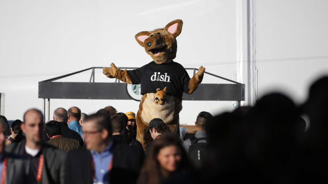 The Dish mascot Hopper entertains show attendees at the International Consumer Electronics Show in Las Vegas, Tuesday, Jan. 8, 2013. (AP Photo/Jae C. Hong)