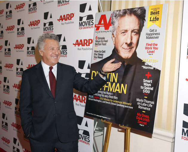 IMAGE DISTRIBUTED FOR AARP MAGAZINE - Dustin Hoffman attends AARP The Magazine's 12th Annual Movies for Grownups Awards at The Peninsula Hotel on February 12, 2013 in Beverly Hills, California. (Photo